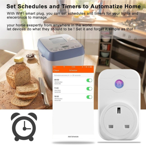 Remote Control UK Standard WiFi Smart Socket