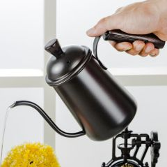 Long Mouth Coffee Pot with Wooden handle