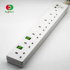 Eu uk us au plug 6 outlet power strip with usb ports