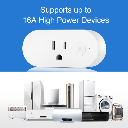 16A Wi-Fi Enabled Mini Smart Outlet Remote Control with Timer