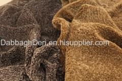 Genuine sheepskin curly fur