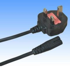 IEC C7 220V UK 3pin female power cord