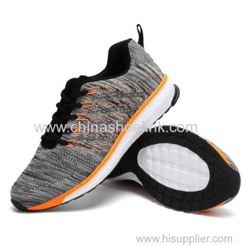 Hyp sneaker Popular Charcoal Men's Running Sports Casual Shoes Sneaker Fly Knitting Shoes seller