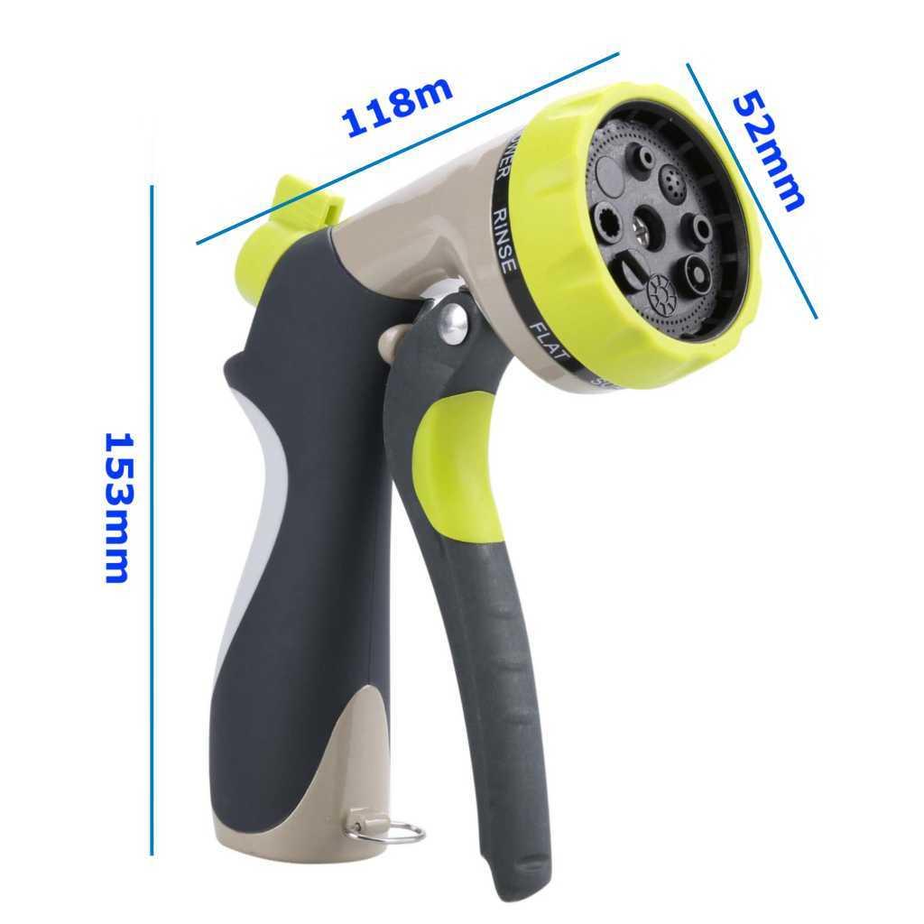 Heavy Duty Metal 8-Pattern Garden Water Spray Gun