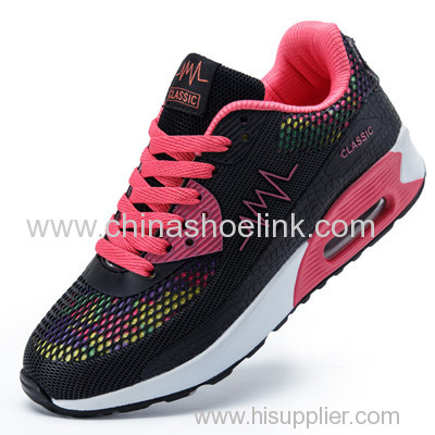 Pattern PU leather sport running shoes rugged outdoor shoe with PU airbag sole