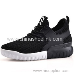 Elevator Shoes Child Black Fly Knitting Sneaker Shoes Lyte Shoes