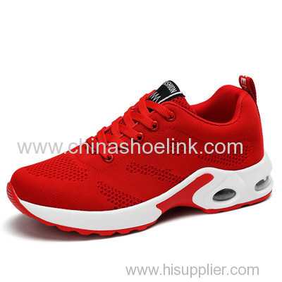 Boost Red Fly Knitting Shoes in PU Sole with Airbag