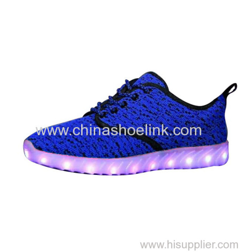 Boost Sply Red fly knitting shoes with LED lights exporter