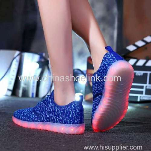 Yeezy Sply Charcoal fly knitting shoes with LED lights supplier