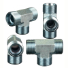 Hydraulic fittings metric male adjustable stub end ISO 6149 run tee ACCH-OG ADDH-OG ACCH-OG/RN ADDH-OG/RN