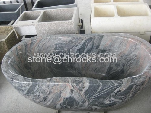 Chinese Juparana Granite Bathtubs Grey Granite Tubs