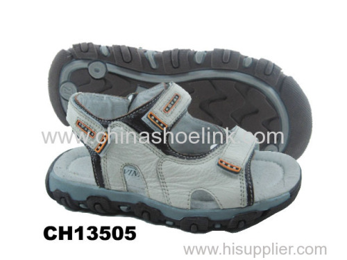 White leather sport sandal supplier