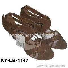 High heels lady sandal summer fashion shoes factory