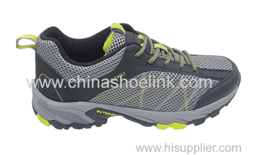 High quality China men trekking shoes tex trails shoes walking shoes supplier