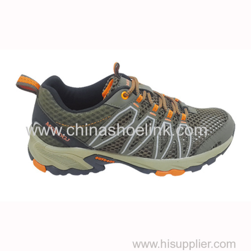 Olive men trekking shoes hiking shoes walking shoes manufactor