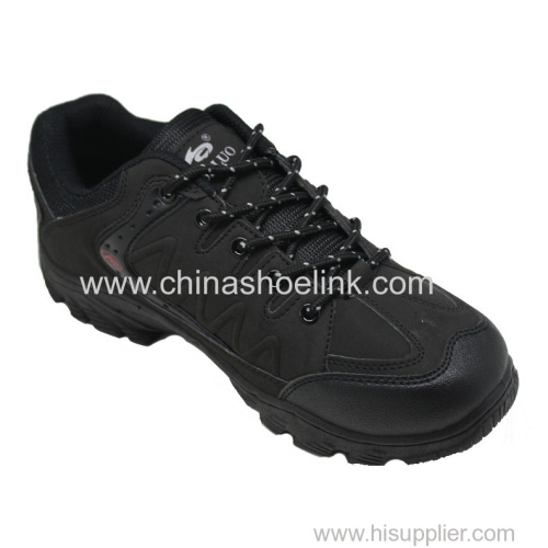 Best black hiking shoes China trekking shoes walking shoes factory