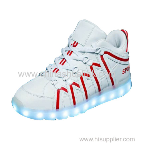 Best mid-cut skateboard shoes with LED lights sportswear sneaker manufactor