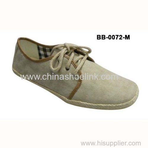 Espadryle style men canvas shoes casual shoes factory