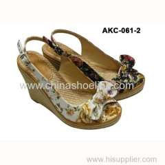 Espadryle style lady canvas shoes casual shoes wedges supplier