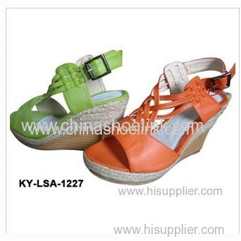 China orange Lady Jute shoe espadryle style canvas shoes supplier