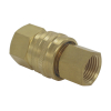 Brass Material American Type Straight Through Non-Valve Quick Connect Coupling