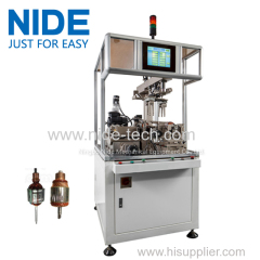 Rotor weight removing machine armature balancing machine