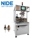 Two working station armature rotor dynamic balancing and testing machine