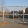 Wire temporary construction chain link fence