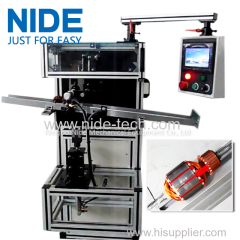 Automatic rotor slot insulation wedge inserting machine for electric motor
