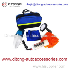 6pcs car wash cleaning Combination kit car cleaning tools kit in blue bag