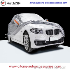 Silver 190T polyester car covers