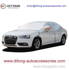 Aluminum Film+ PP Cotton Half Car Cover