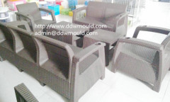 DDW Plastic Rattan Safa Mold Rattan Plastic Injection Safa Mold Plastic Rattan Furniture