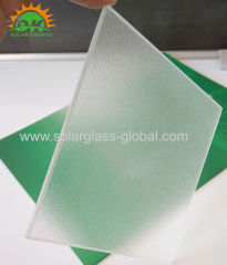 3.2 extra clear low iron patterned glass
