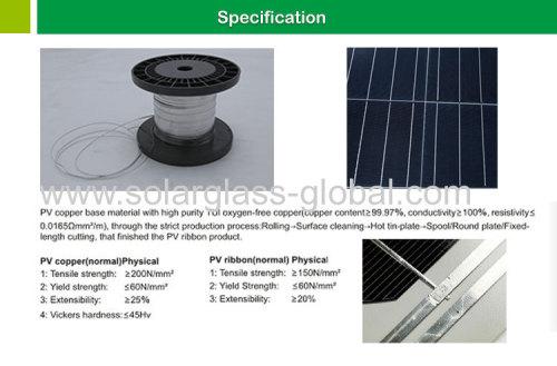 Solar cell soldering ribbon for solar panel