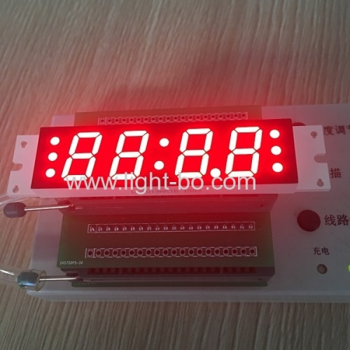Ultra red customized 4 digit 7segment led clock display for Speaker /Sound
