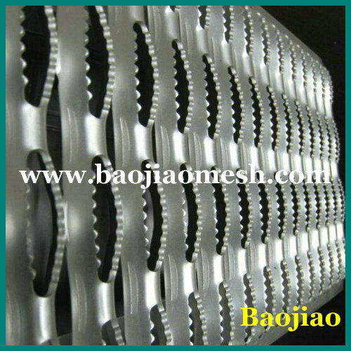 Safety Grating Crocodile Mouth Perforated Walkway Mesh