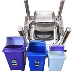 DDW Indoor Household Plastic Trash Bin Mold sold to Russia