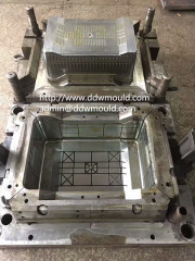 DDW Plastic Turnover Box Mold Injection Crate Mold to Spain