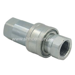 "1/2"" NPT hydraulic Quick Connect Couplings Ball Fitting Female and Male with Dust Caps Compatible Parker 6600 Series"