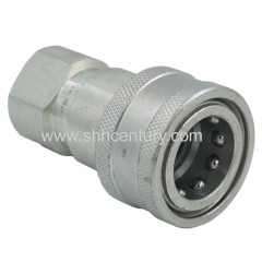 Double Shut Off Close Type Hydraulic Quick Disconnect Couplings 1/2 Inch Socket