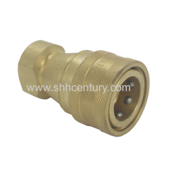 KZD ISO7241-B Copper Hydraulic And Pneumatic Quick Coupler BSPT1/2