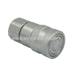 ISO16028 1/2 NPT Skid Steer Bobcat Flat Face Hydraulic Quick Connect Coupler Coupling Socket