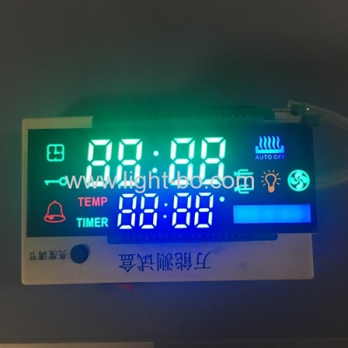 Custom design ultra red & ultra white 8 digit 7 segment led display for multifunction oven timer control