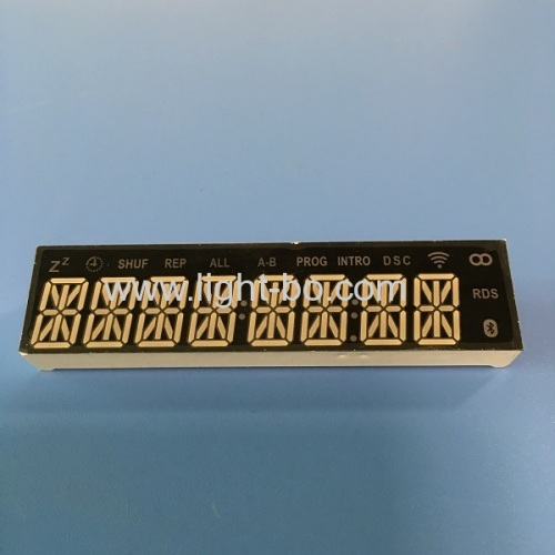 Custom design super yellow 8 digit 14 segment led display common cathode for sound