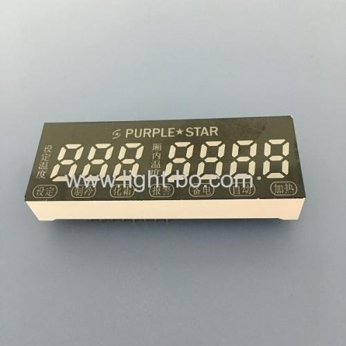 Ultra bright blue custom 7 digit 7 segment led display for temperature control