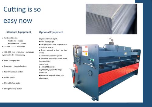 QC12Y 6X3200 Hydraulic Swing Beam Shearing Machine
