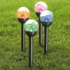 Glass Globe Solar Lights Color-Changing Solar Lights Stainless Steel Solar Path Lights