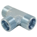 DIN Standard T Type Tee Union Hydraulic Tube Fitting Adaptor Connector