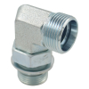 WEE Adjustable Locknut Elbow Bsp To Metric Hydraulic Fitting